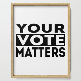 Your Vote Matters American Presidential Election Serving Tray