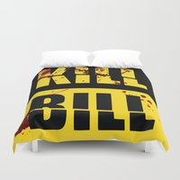 kill bill Duvet Covers featuring Kill Bill by Melis Kalpakçıoğlu