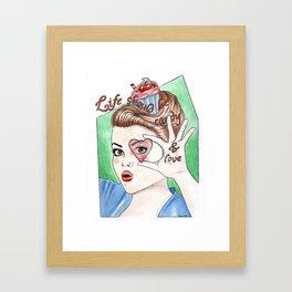 -Candy & Love Framed Art Print