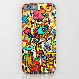 Monster Hello party iPhone Case