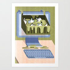 The Internet: A Wasteland Of Information Art Print