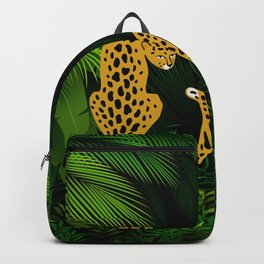 Jungle Exotic Tropical Leopards Backpack