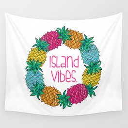 Island Vibes Pineapple Wall Tapestry