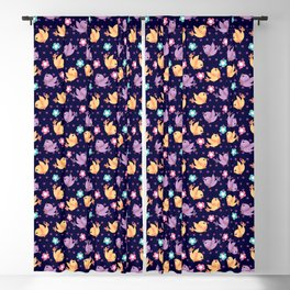Freely Birds Flying - Fly Away Version 2 - Indigo Color Blackout Curtain