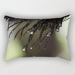 Green Drops Rectangular Pillow
