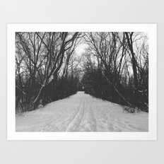 paths traveled Art Print