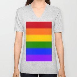 Rainbow Gay Pride Flag Unisex V-Neck