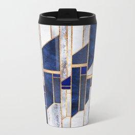 Blue Winter Sky Metal Travel Mug