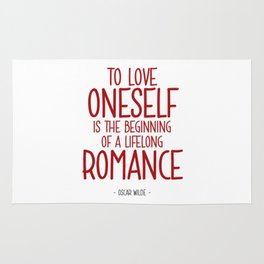 Love Yourself Quote - Oscar WIlde Rug