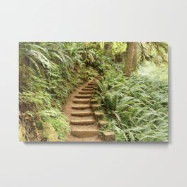 Stairway to the Forest Metal Print