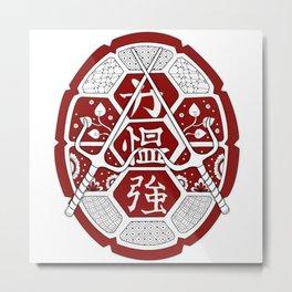 TMNT Raphael Shell Red Metal Print
