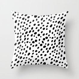 Dalmatian Spots Throw Pillow