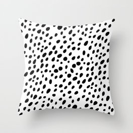 Dalmatian Spots Throw Pillow