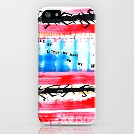 Little by Little Radiohead Inspired Print iPhone Case