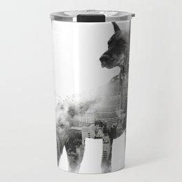 Doberman Pinscher NYC Skyline Travel Mug
