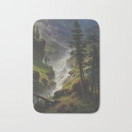 ALBERT BIERSTADT · landscape Rocky Mountain Waterfall (1898) Bath Mat