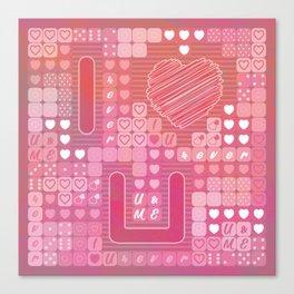 Tetris I Love U Canvas Print