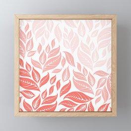 LIVING CORAL LEAVES 3 Framed Mini Art Print