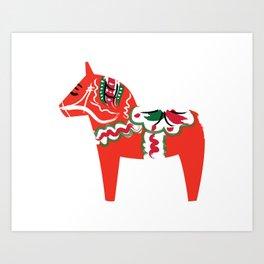 Swedish Wooden Horse Art Print