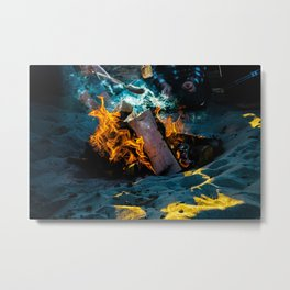 Fire and Smoke Metal Print