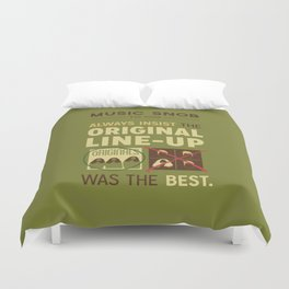 Original Line-up — Music Snob Tip #098 Duvet Cover