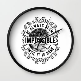 Distressed It Always Seems Impossible Vintage Steampunk Wall Clock