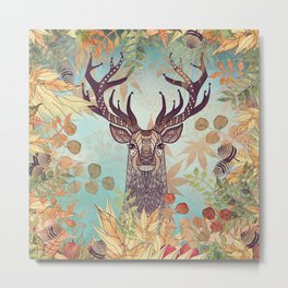 THE FRIENDLY STAG Metal Print