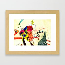 Evolution T.V. Framed Art Print
