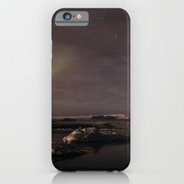 Glacier Lagoon By Night iPhone Case