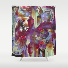 """Manifest"" Original Painting by Flora Bowley Shower Curtain"