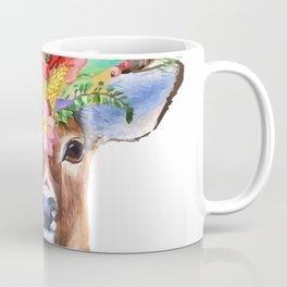 Deer with flowers Coffee Mug