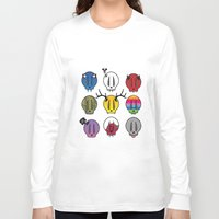 skulls Long Sleeve T-shirts featuring Skulls by Aillustrations