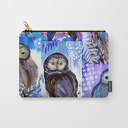 Owl Collage Carry-All Pouch