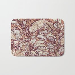 abstract camouflage leaves Bath Mat
