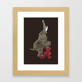 Alabama Proud (Elephant) Framed Art Print