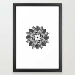Abstract flower Framed Art Print