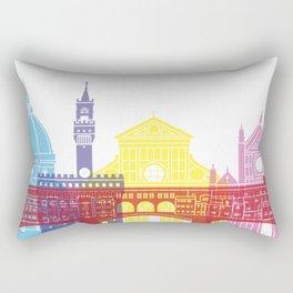 Florence skyline pop Rectangular Pillow