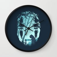 chihiro Wall Clocks featuring Lonely Spirit by filiskun