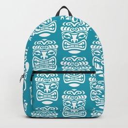 Tiki Pattern Turquoise Backpack