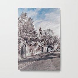 Urban Winter Scene at Gianicolo District, Rome, Italy Metal Print