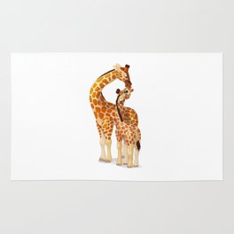 Mother and child giraffes Rug