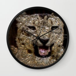 Metal Leopard Wall Clock