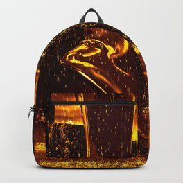 Shiny Boots of Leather Backpack