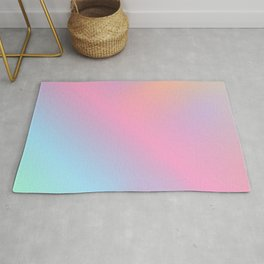 Abstract aurora pink teal lavender blue watercolor gradient Rug