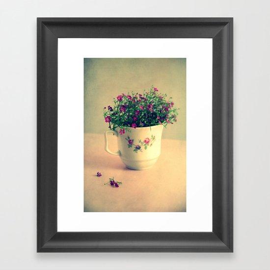 romantic day Framed Art Print