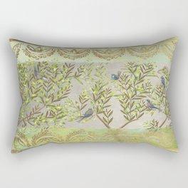 Twittering // birds // gossiping // tree branches Rectangular Pillow