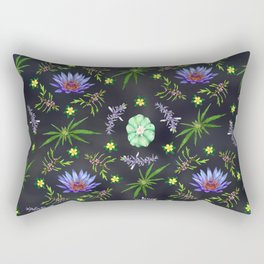 Smokeable Hallucinogenic Plants Pattern Rectangular Pillow