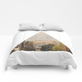 Hollywood Sign - Geometric Photography Comforters