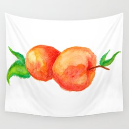 Two Peaches Wall Tapestry