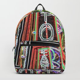 """""""Tat-two"""" Neon Street Art by Murray Bolesta Backpack"""